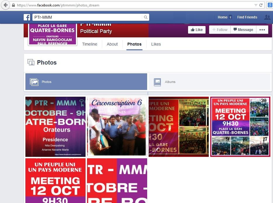 Photos sur le Facebook du PTR-MMM.