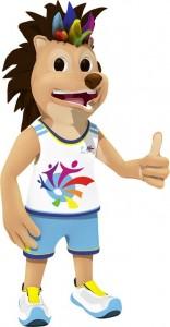 C'est Tibayoun, un hérisson, qui est la mascotte des jeux.