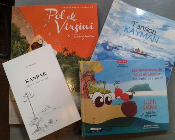 Les livres écrits en kreol n'ont pas de mal à se trouver dans les rayons des librairies