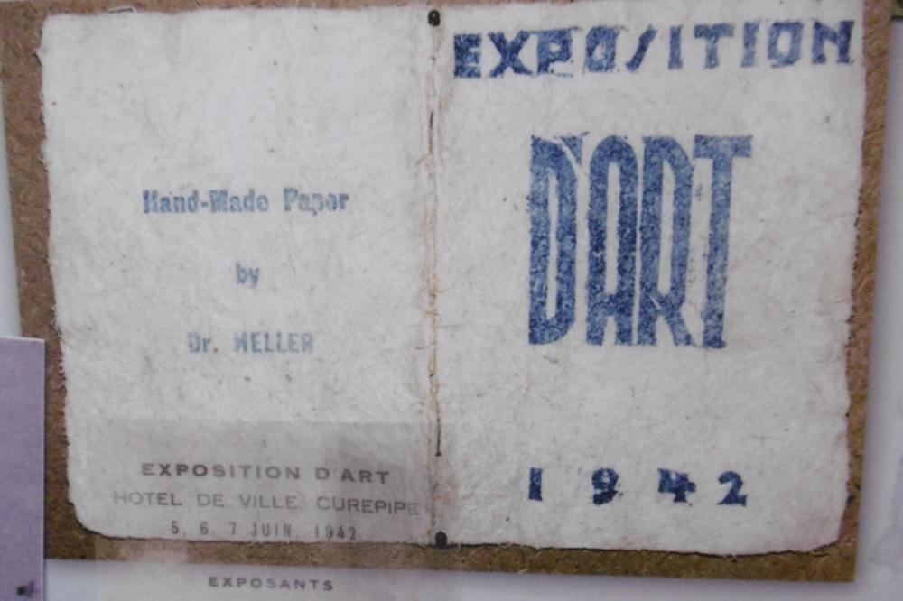 Un des détenus juifs, le Dr Heller, avait même participé à une exposition à Curepipe.