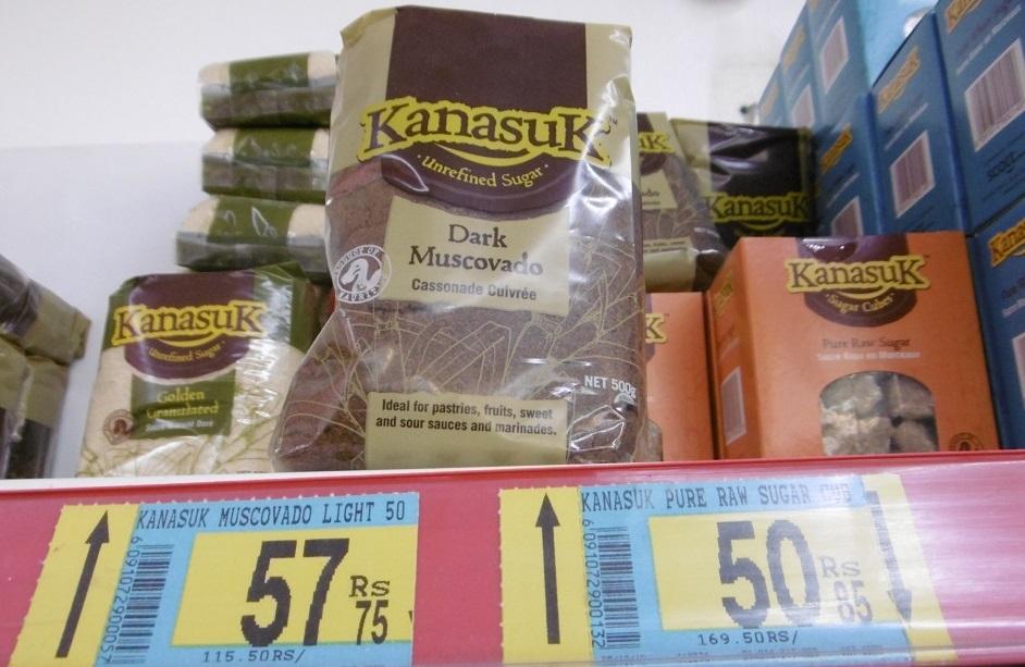 ...Alors que le prix du sucre mauricien peut, lui, atteindre, le double.