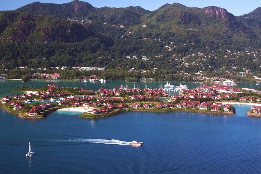 Vue aérienne d'Eden Island. Crédit photo: Eden Island.