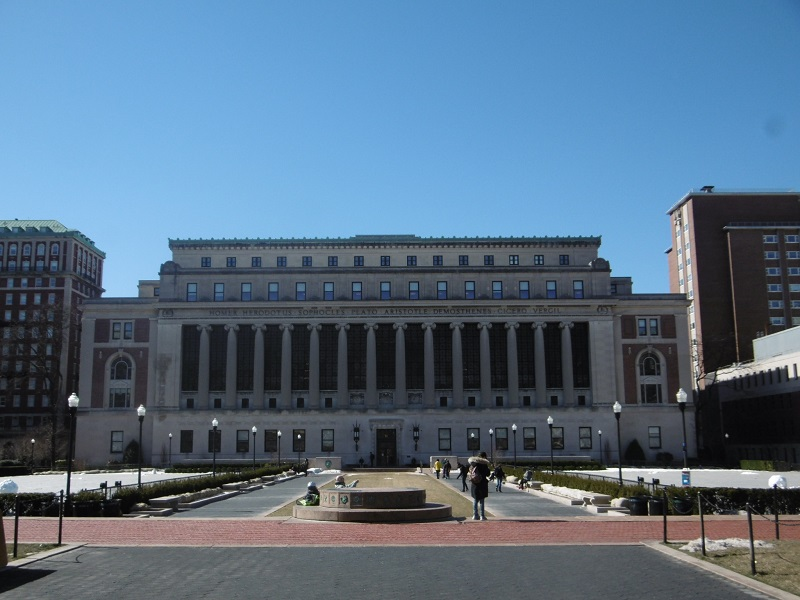 La Butler Library de Columbia University impressionne.