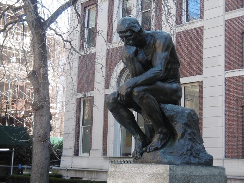 J'ai été ravie de découvrir Le Penseur d'Auguste Rodin, au coeur du campus.