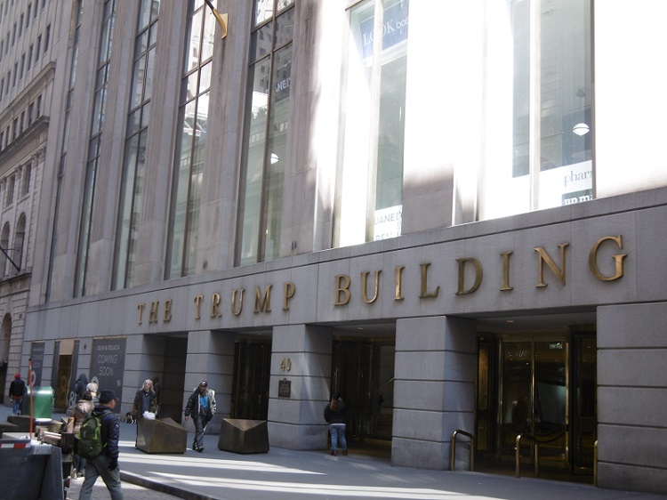 Trump Building sur Wall Street. Photo: CR