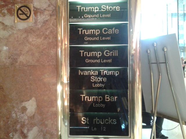 Pas de doute, c'est bien la Trump Tower! Photo: CR.