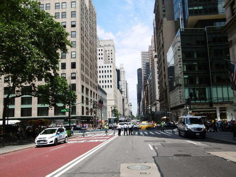 La 5ème Avenue de New York fermée à l'occasion de la Pride Parade.