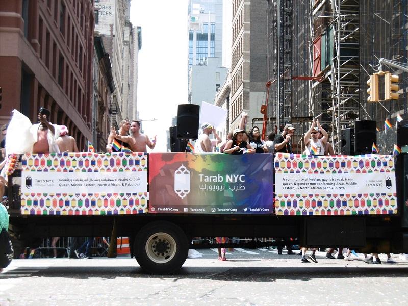 Des LGBTQ du la communauté du monde arabe, du Moyen Orient et de l'Afrique du Nord de New York.