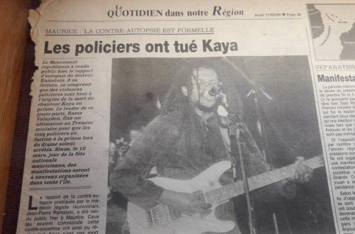 Article : Ile Maurice : Kaya, 20 ans après