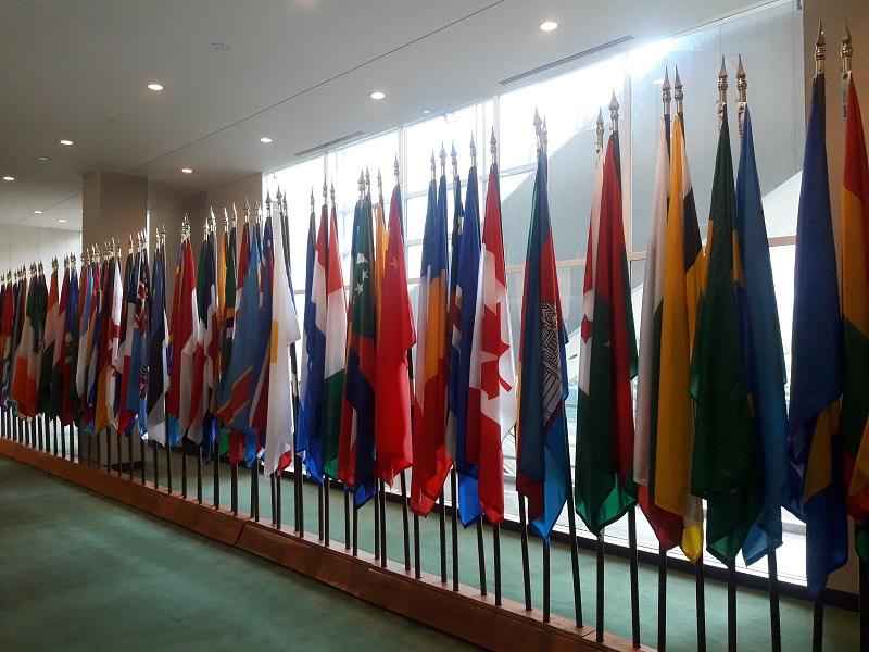Vivre une Assemblée Générale des Nations Unies, avec des délégations venues du monde entier, est une experience extrêmement enrichissante! Photo: CR