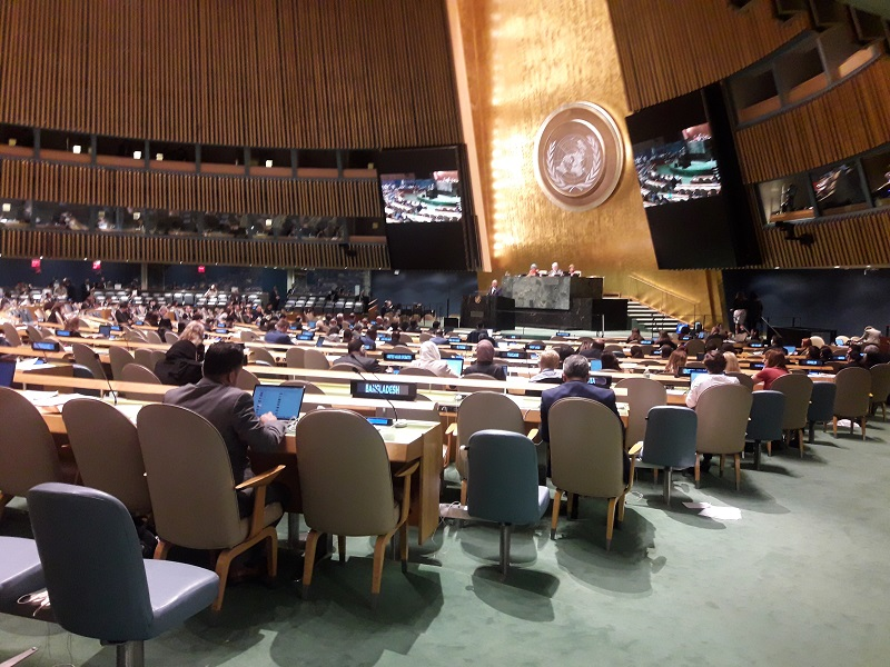 L'Assemblée Générale des Nations Unies vécue de l'intérieur :-) Photo: CR